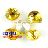 Light topaz 18mm Fancy glass rivoli Crystal stones ,glass stone ,crystal stones without claw or with claw