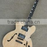 MUSOO BRAND Electric Guitar Jazz Guitar Semi-hollow Guitar Natural Color Guitar Birdeyes Veneer