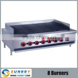 Gas lava rock for grills with 8 burners and control valves gas grill (SUNRRY SY-BR360D)