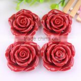 Fashion Cheapest shiny popular wholesale resin flower beads!resin large plastic flower beads with hole in bulk!