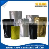custom printed small coffee bean packaging bags/resealable aluminum foil coffee sachet film