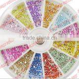 Diamond false nail rhinestone acrylic nail art 12 2.0mm diamond box finger drill mobile phone beauty                                                                         Quality Choice