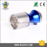 Button battery colorful promotional 6 LED flashlight,aluminium mini flashlight,logo customized led torch keychain flahslight