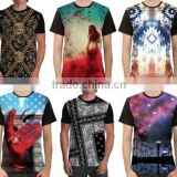 Fashion 100% polyester wholesale custom design sublimation printing t-shirt 3d t-shirts full front print BI-3122