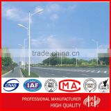 Double Arm Street Lighting Pole with Galvanization and Powder Coated for street lighting