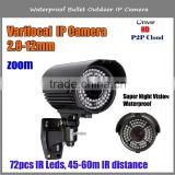 960P 1.3MP hd video day&night camera ir varifocal bullet camera with 60M Long Night Vision