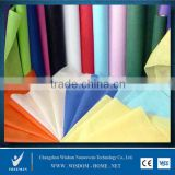 China medical 100% pet disposable spunlaced polyester raw material spunbond cotton polypropylene tnt PP non woven fabric roll