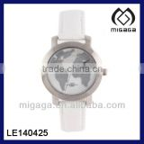 PLASTIC BAND PROMOTIONAL GIFT MAP IMAGE WATCH* Acrylic dial window covering watch
