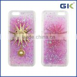 [GGIT] Luxury Quicksand Liquid TPU With Metal Cover For IPhone 6S Phone Case
