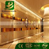 fireproof eco-friendly polyester fiber flocking acoustic panel for hotel lobby wall decoration