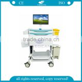 AG-MT014A ABS hospital Workstation medical computer trolley