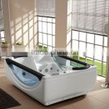 two person acrylic free standing massage bathtub