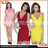 Guangzhou manufacturer fashion design wholesale sexy colorful plus size sleeveless women bodycon bandage dress