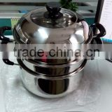New arrival Stainless Steel Induction steam cooking pot steamer