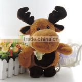 Santa Claus's Reindeer Christmas Deer Stuffed Animals Plush Toys Children Gift