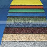 Rubber backing commercial carpet tiles
