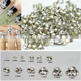 White Clear 1440pieces/bag Sharp Bottom Non Hotfix Glue on Rhinestones Shining Nail Art Crystal