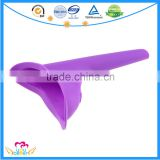 Portable Travel Female Urine Device , New Lady Urinal Funnel ,Soft Silicone Plastic Standing Urinals,Women Wee Urine Funnel