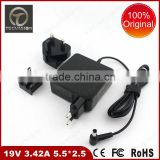 100% Brand New Original Laptop Charger 19V 3.42A 65W 5.5*2.5mm Compatible Laptop Adapter for Asus ADP-65AW
