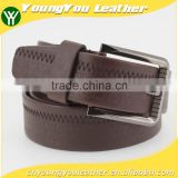 2015 NEW Designer fashion mans reversible brown PU leather belt jeans belt