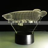 Arowana Fish Shaped Color Change 3D Illusion Led Atmosphere Light