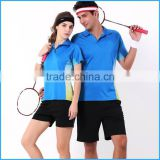 unisex badminton jersey uniform hot sale in wholesale sports clothing
