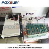 High frequency 19 inch 2U Rack Mount Pure Sine Wave Inverter for Industry and telecom 1500VA 1000W -48V dc to 230V ac