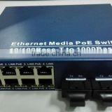 8ports/16 port gigabit poe Ethernet switch 1*9 optic module with low price for IP camera