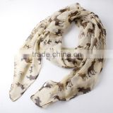 2015 Newest spring women polyester print scarf, leopard print scarf,animal print scarf