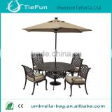 2014 hot sell rectangular luxury outdoor wooden umbrella