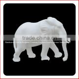 High polished white marble statues for sale elephant