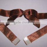 HOT SALE! Brown Satin Ribbon Pre-tied Bow Tie For Gift Box, Chocolate Box Wrapping Decorations,