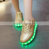 2016 hot chaussure led Novelty new unise luminous shoes men & women fashion USB recharge Shuffle girl elena in youtube LED Shoes
