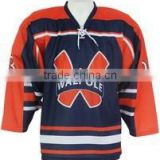 Designs custom lace neck sublimation ice hockey Shirt