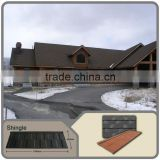 Heat resistant roof panels / Sand steel roofing tiles truss / light weight roofing shingle / stone coated metal roofing shingles
