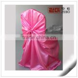 Colorful Wedding Used Satin Chair Cover for Cheap Sale