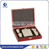 Custom elegant wood wine box with metal lock for display                                                                                                         Supplier's Choice
