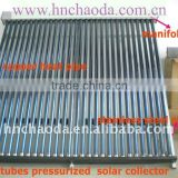 Sloping Roof Solar Panel with Heat Pipe, Copper Header Pipe, Rock Wool and Flat Roof Frame