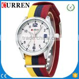 CURREN/CW011 Luxury Brand Nylon Strap buy watches online Casual Watch Auto Date Wristwatch Relogio Masculino Male Clocks
