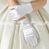 Age 4-Age14 Girls Satin Pearl Confirmation Wedding Communion Halloween Christmas Flower Girl Gloves