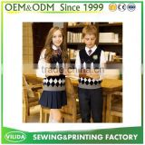 OEM Middle School uniform sweater blazer material fabric in good design for india