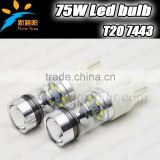 2pcs Super Bright 15SMD C ree XBD chips LED Red T20 7443 W21/5W Car Tail Led Bulb Light Brake Lights Fog Lamps 75W