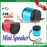 Mini Speaker MP3 Player Amplifier Micro SD TF Card USB Disk FM Radio PC speaker Blue/Red Choice