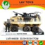 Hot-selling friction plastic tank toys,military toys for boy