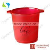 top quality custom plastic ice bucket with logo printing