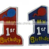 Wholesale My 1st Birthday Molded Candle/ KIDS THEMED CANDLES/CAKE DECORATIONS
