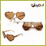 hot selling pattern print frame heart shaped sunglasses women fashionable brown lens sunglasses