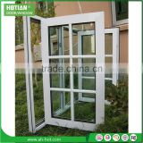 Casement Glass reception window fashion grill window opening 180 degree PVC casement windows