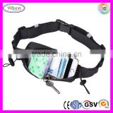 D047 Running Fuel Belt Marathon Running Wear Bib 6 Loops for Energy Gel Reflective Bands Race Bib