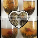 High Quality Blooming Tea Made Of Green Tea Calendula Jasmine Tea for slimming